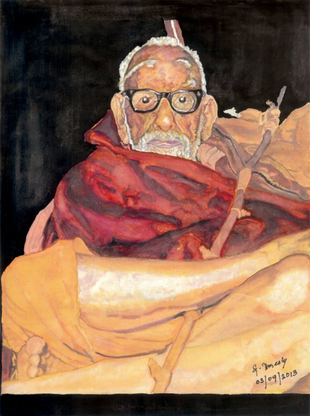 Maha Periyava Painting – By Sri Umesh