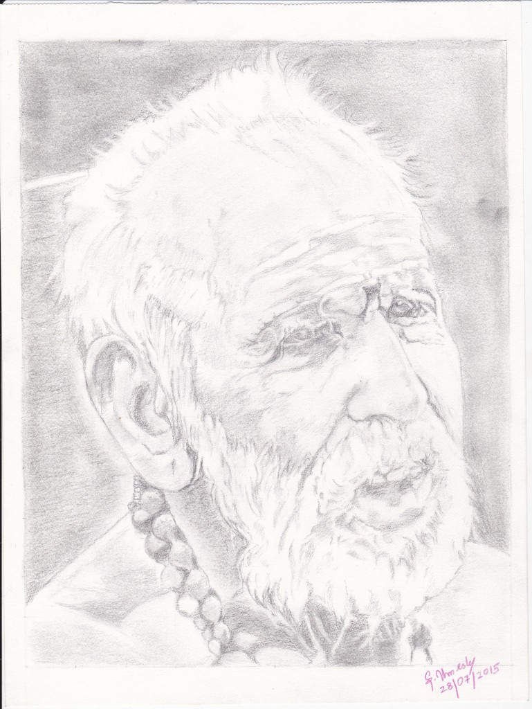 47 Mahaperiyava Different Look Pencil Sketch 28072015