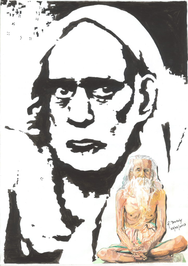 Sri Umesh's Painting of Maha Periyava & Sri Sivan Sar